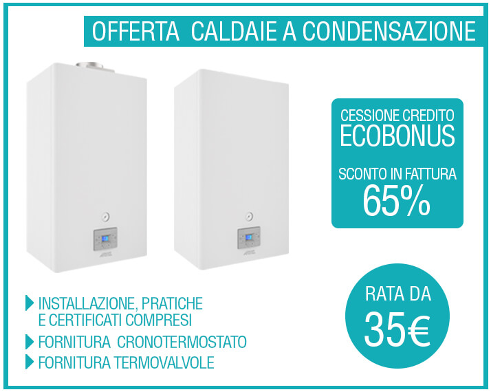 Offerta caldaie Sconto immediato del 65%